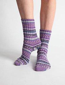 Obuv - Vlnené ponožky - fialové - 10441916_