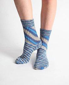 Obuv - Vlnené ponožky - modré - 10441943_