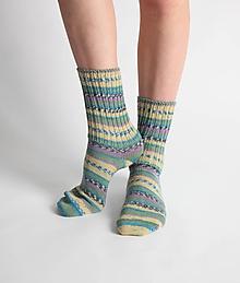 Obuv - Vlnené ponožky - zelené - 10441960_