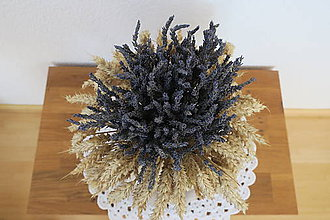 Dekorácie - levanduľovo-poľna dekoracia - 10440110_