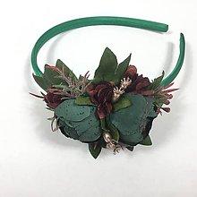 Ozdoby do vlasov - Smaragdovo zelená čelenka - 10440470_
