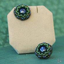 Náušnice - Cupcakes (Bluegreen) - 10441576_