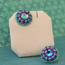 Náušnice - Cupcakes (Bluepurple) - 10441582_