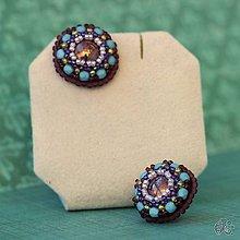 Náušnice - Cupcakes (Purplelightblue) - 10441594_