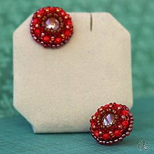 Náušnice - Cupcakes (Redbrown) - 10441597_