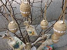 Dekorácie - Veľkonočné yutové vajíčka. - 10441307_