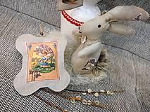Dekorácie - Veľkonočný levanduľový vankúšik. - 10441685_