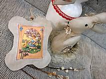 Dekorácie - Veľkonočný levanduľový vankúšik. - 10441712_