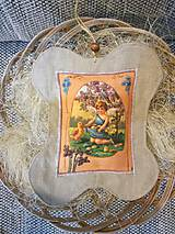 Dekorácie - Veľkonočný levanduľový vankúšik. - 10441788_