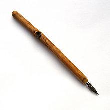 Papiernictvo - Špaltované topoľové kaligrafické pierko - 10441843_
