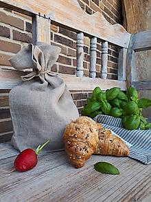 Úžitkový textil - Ľanové desiatové vrecúško - 10441869_