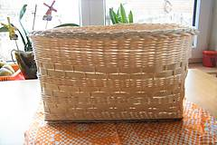 Košíky - Košík z pedigu - veľký, oválny 3 - 10439101_