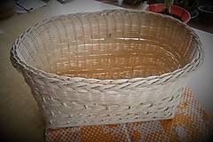 Košíky - Košík z pedigu - veľký, oválny 3 - 10439808_