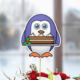 Dekorácie - Tučniak - zápich na tortu (vianočná torta) - 10440958_