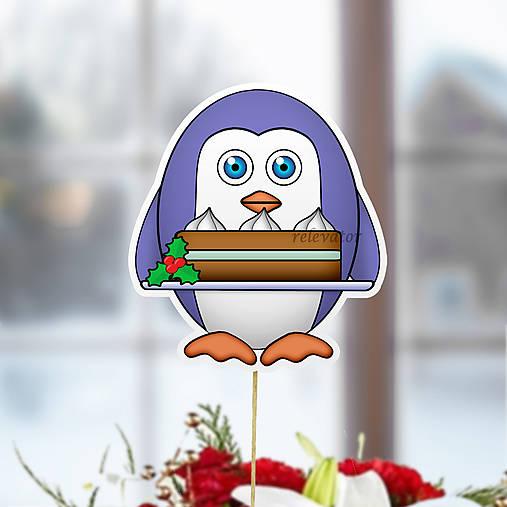 Tučniak - zápich na tortu (vianočná torta)
