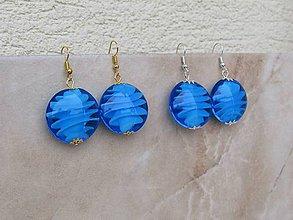 Náušnice - Modré - 10441524_
