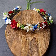 Ozdoby do vlasov - Spring Folklor New ... věnec - 10442920_