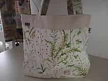 Nákupné tašky - Nákupná taška - bylinková - 10442487_