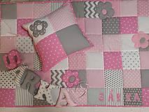Textil - Patchwork súprava Pink & Grey - 10442510_