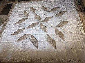 Úžitkový textil - Patchwork deka - Natural Sand Beige - 10442525_