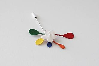 Odznaky/Brošne - Biely kvet - 10445029_