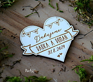 Darčeky pre svadobčanov - Magnetky pre svadobných hostí Vlajka 2 - 10444378_