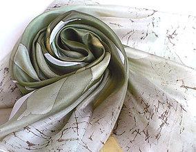 Šatky - Olivový háj. Hedvábný šátek. - 10443168_