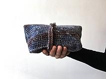 Batohy - Batoh na plece modro-hnedý + drobnosti modrohnedý - 10444969_