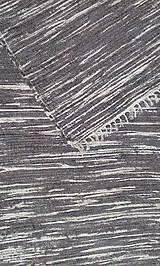 Úžitkový textil - Koberček melírovaný šedo-biely - 10443773_