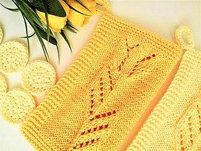 Úžitkový textil - Sada do kúpelne  -  žlté tulipány - 10442375_