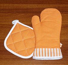Úžitkový textil - chňapka rukavice + malá chňapka v soupravě - 10444687_
