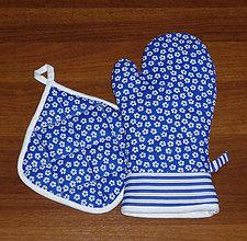 Úžitkový textil - chňapka rukavice + malá chňapka v soupravě - 10444701_