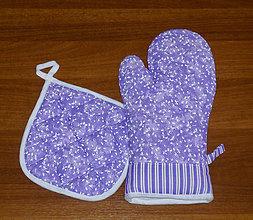 Úžitkový textil - chňapka rukavice + malá chňapka v soupravě - 10444801_