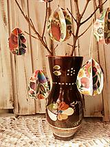 Dekorácie - Veľkonočná dekorácia - Vajíčko ( 6 ks ) - 10443049_