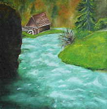 Obrazy - Pri starom mlyne - 10442402_