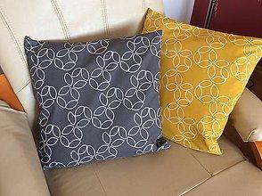 Úžitkový textil - vankúšik šedý - 10442980_