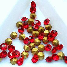 Korálky - Šaton 4,7mm-1ks (červená SIAM) - 10444489_