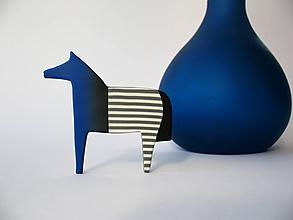 Odznaky/Brošne - ,,Koník Linka,,modrý - 10444346_