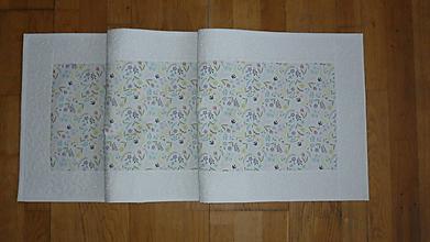 Úžitkový textil - Obrus, štóla na stôl jarná s kvietkami - 10444343_