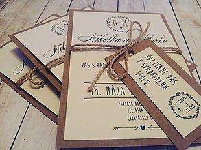 Darčeky pre svadobčanov - Svadobné oznámenie + pozvánka - 10444287_