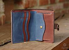 Peňaženky - Kožená peňaženka aj na veľké doklady V.b - 10443910_