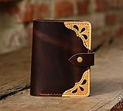 Peňaženky - Kožená peňaženka aj na veľké doklady V.b - 10443924_