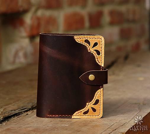 Kožená peňaženka aj na veľké doklady V.b