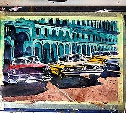Obrazy - Staré autá Havany - 10444513_
