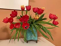 Dekorácie - Azúrová váza - 10442301_