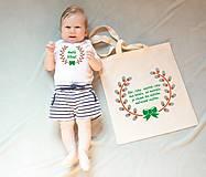 Detské oblečenie - body a taška pre malého šibača - 10442955_