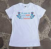 Tričká - tričko pre správnu babku - 10445333_