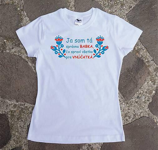 tričko pre správnu babku