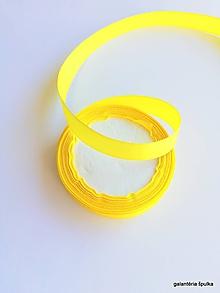 Galantéria - stuha saténová 16mm žltá - 10442736_