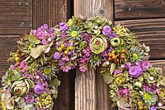 Dekorácie - Prírodný veniec z hortenzie - 10445350_